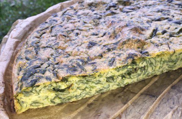 Farinata mit Spinat