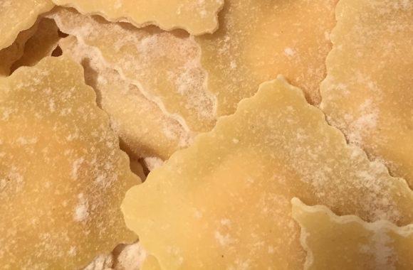 Ravioli mit Süßkartoffel Ricotta Füllung